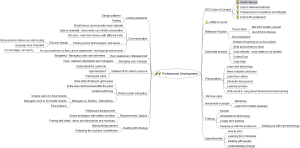 Professional Development - Tidy Mind Map