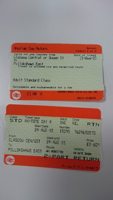 Old and new rail tickets